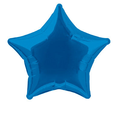 Foil Balloon - Solid Colour - Star - Royal Blue