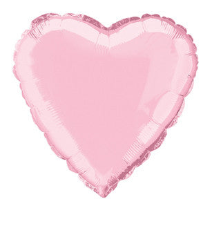 Foil Balloon - Solid Colour - Heart - Pastel Pink