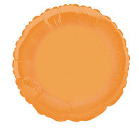 Foil Balloon - Solid Colour - Round - Orange