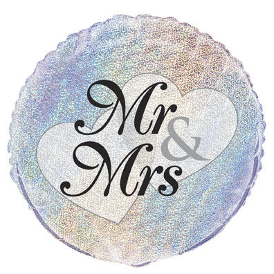 "Foil Balloon - 18"" - Mr & Mrs"