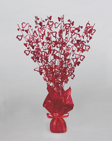 Glitz Centrepiece - Hearts - Red