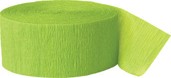 Crepe Streamer - Lime Green