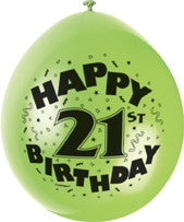 Latex Balloons - Birthday - Ages 18 - 100 (Airfill)