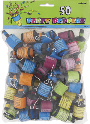 Party Poppers - 50