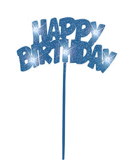 Cake Topper - Birthday - Blue