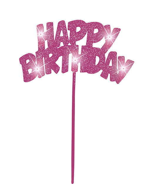 Cake Topper - Birthday - Pink