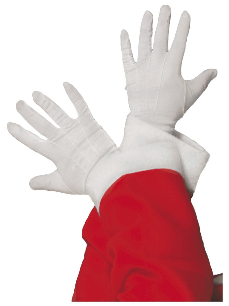 Gloves - Santa - White