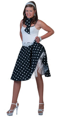 50's Rock 'N' Roll Skirt - Black / White