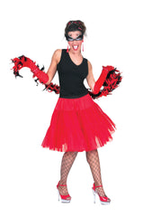 Petticoat - Long - Black/White/Red
