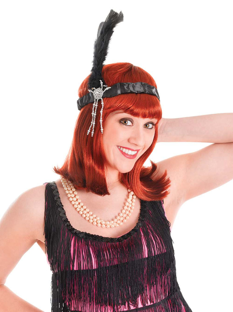 Headband - Flapper - Black/White/Red