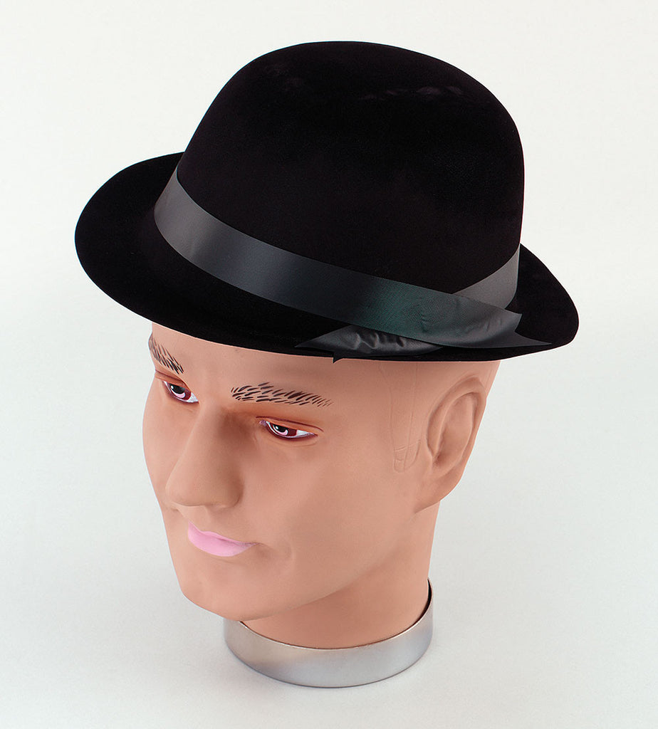 Bowler Hat - Flock - Black