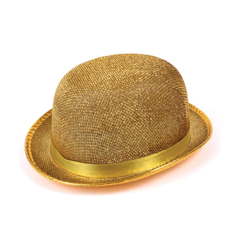 Bowler Hat - Lurex - Gold