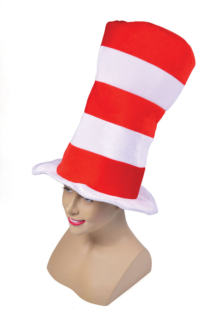 Top Hat - Red/White Striped