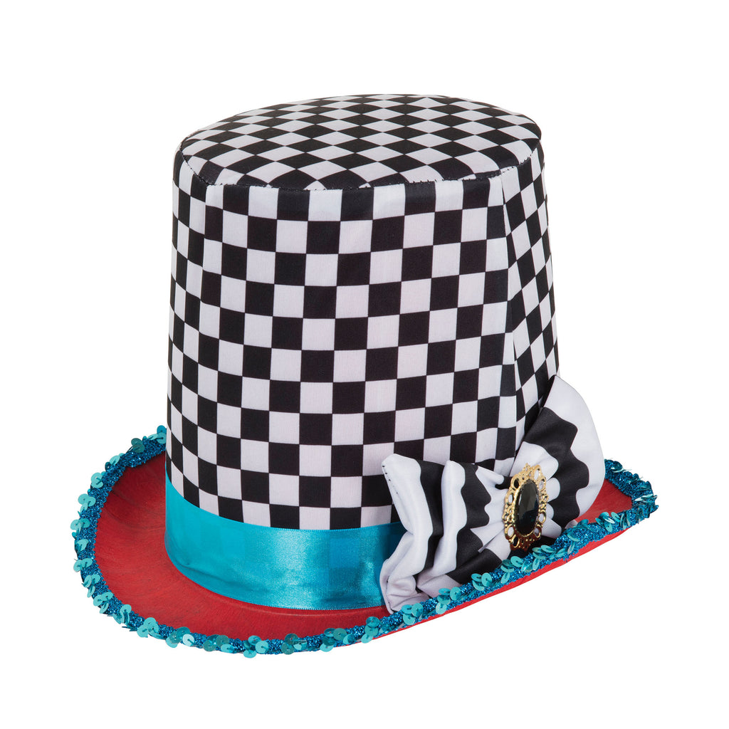 Mad Hatter Chequered Hat