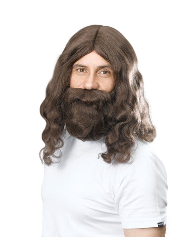 Hippy / Jesus Wig & Beard Set