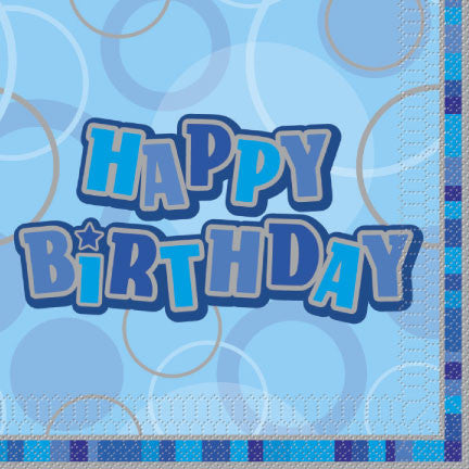 Glitz Napkins - Happy Birthday