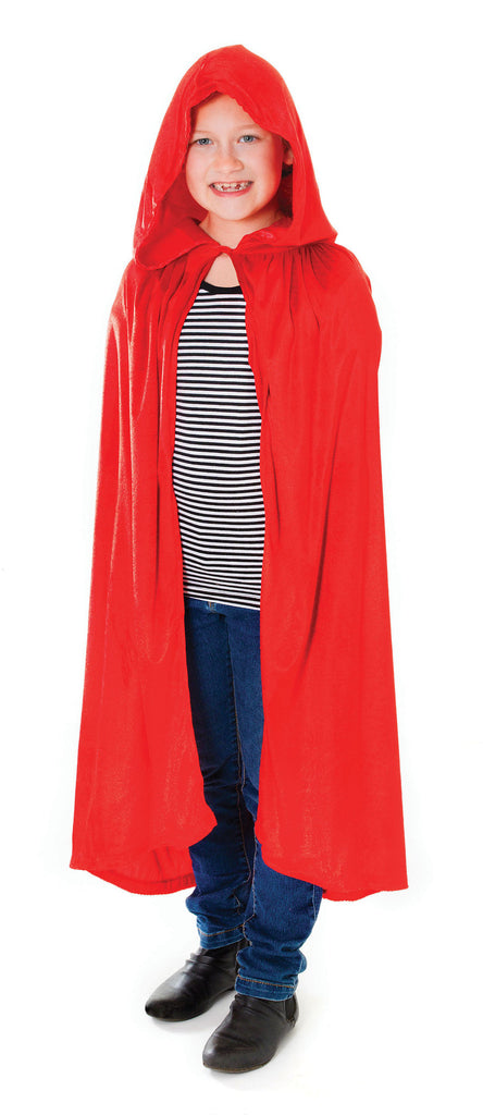 Cape - Hooded - Velvet Black/Red - Childs