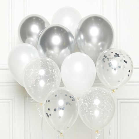 DIY Kit - Latex Balloons - Silver