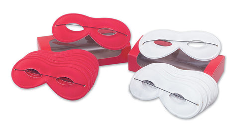 Domino Eyemask - Small - Red/White