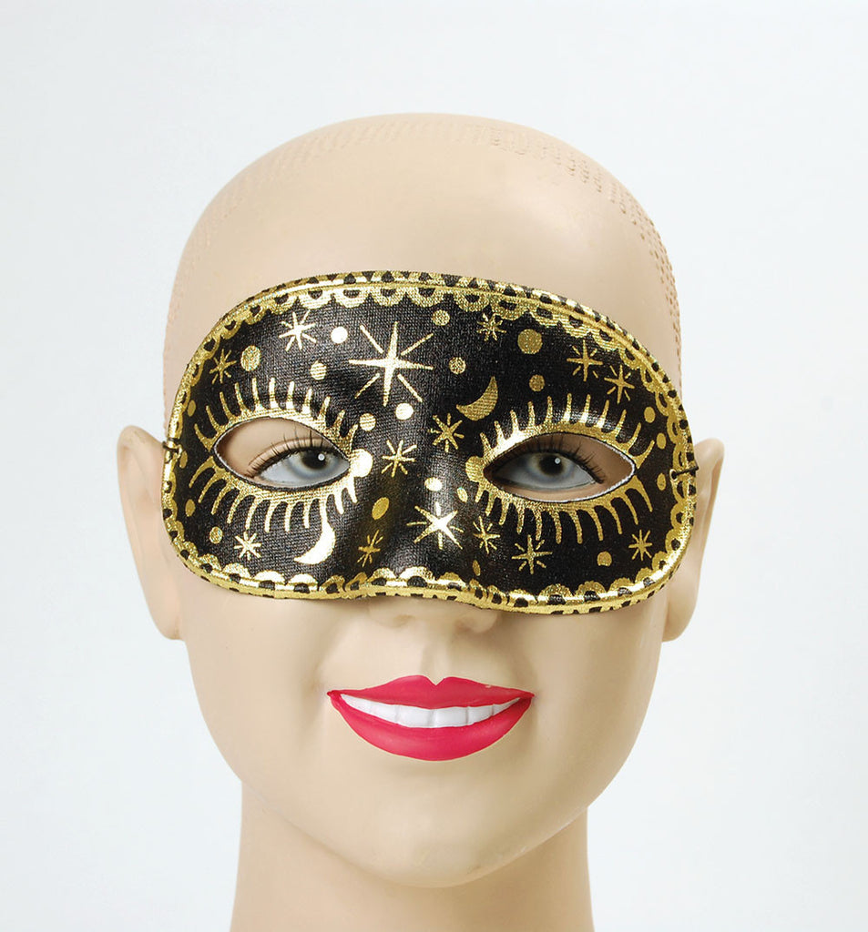 Domino Eyemask - Moon/Star - Black/White