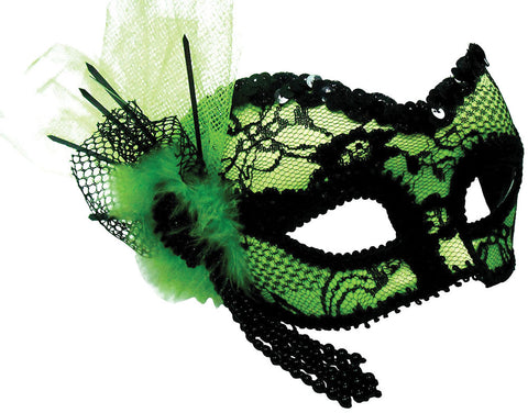 Eyemask - Lace - Lime Green/Black