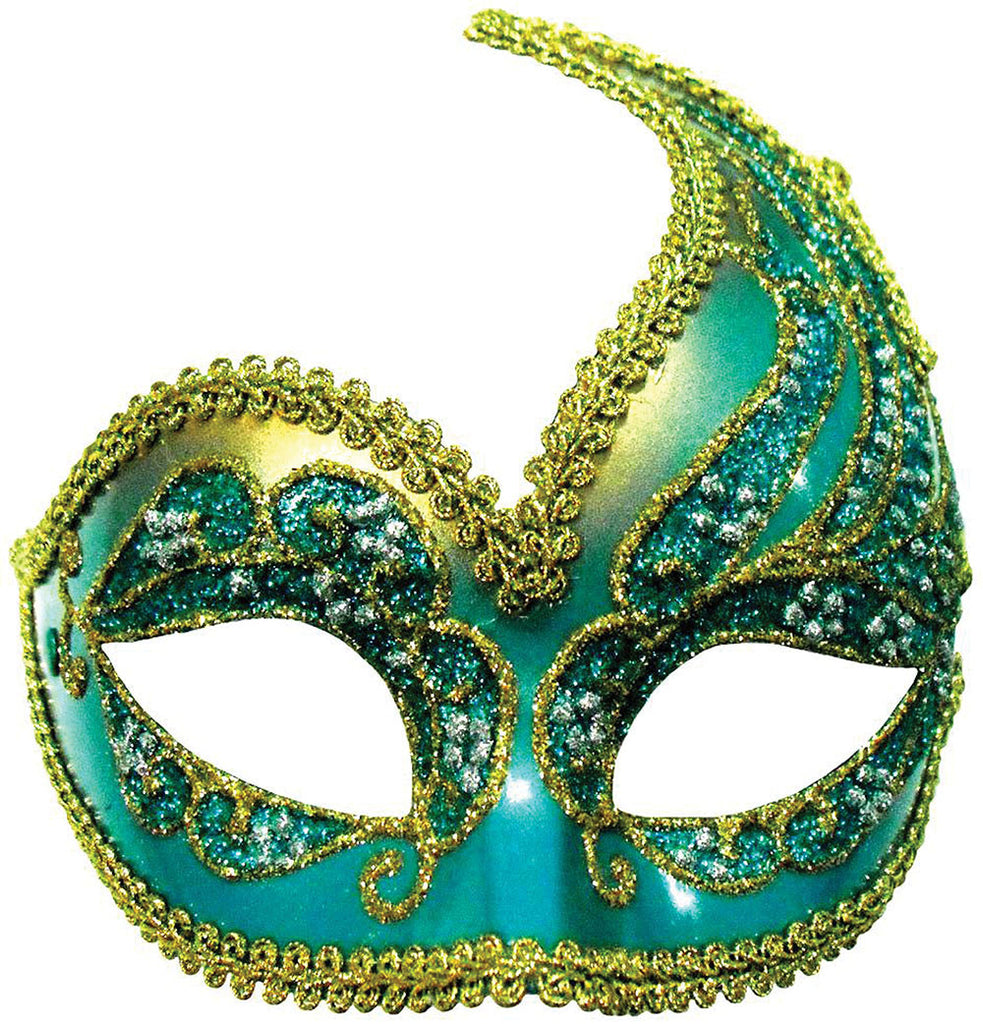 Half Mask - Decorative - Turquoise/Gold