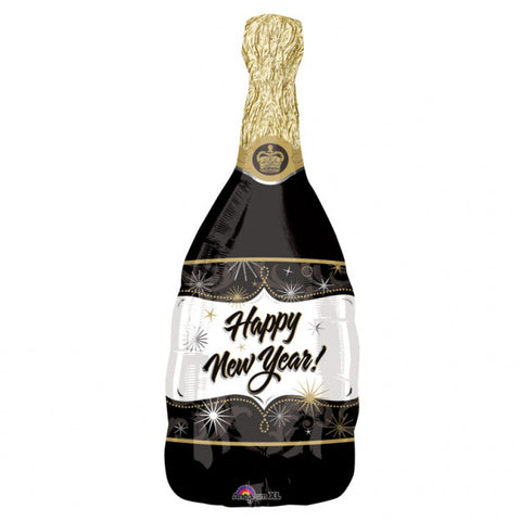 Foil Balloon - Supershape - Champagne New Year