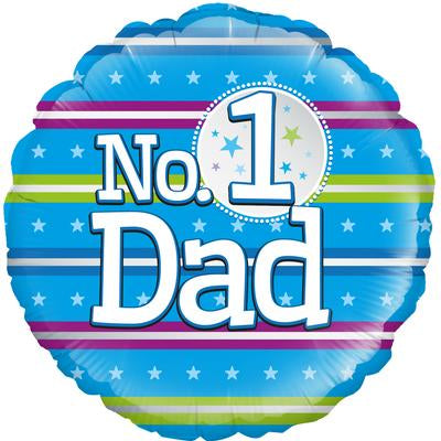 "Foil Balloon - 18"" - No.1 Dad"
