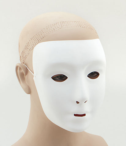 Plain White Face mask