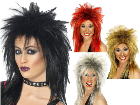 Rock Diva Wig - Black/Red/Ginger/Blonde
