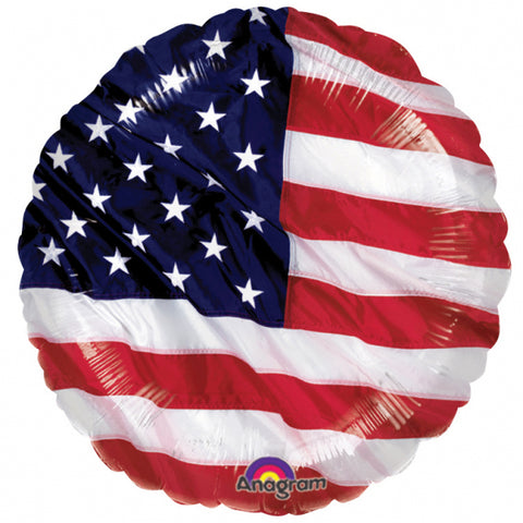 "Foil Balloon - 17"" - USA Flag"