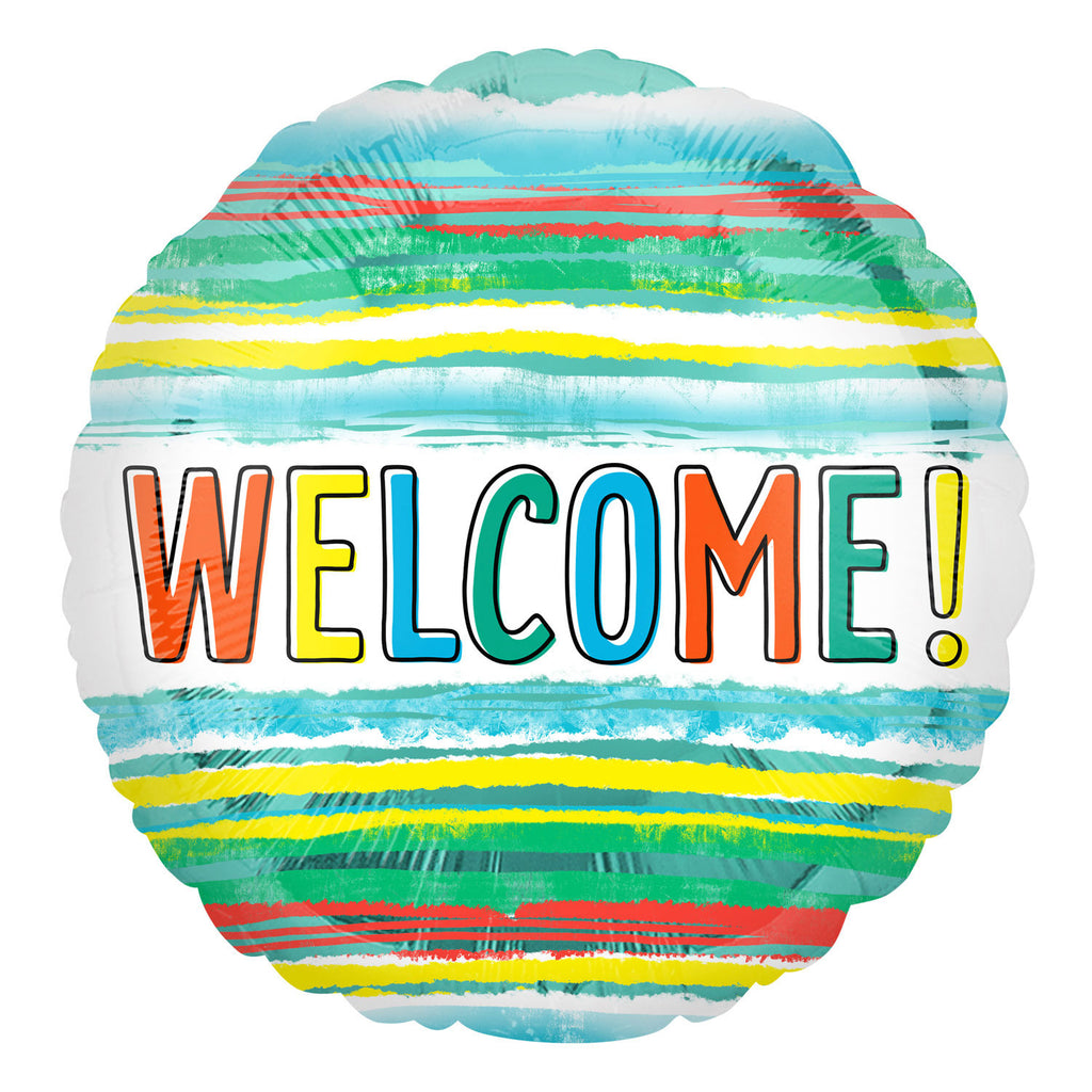 "Foil Balloon - 17"" - Welcome!"