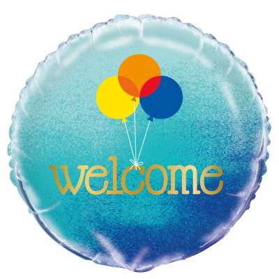 "Foil Balloon - 18"" - Welcome"