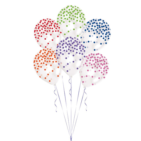 Latex Balloons - Confetti - Assorted