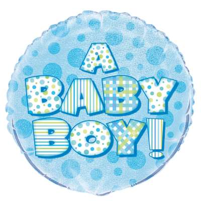 "Foil Balloon - 18"" - A Baby Boy!"