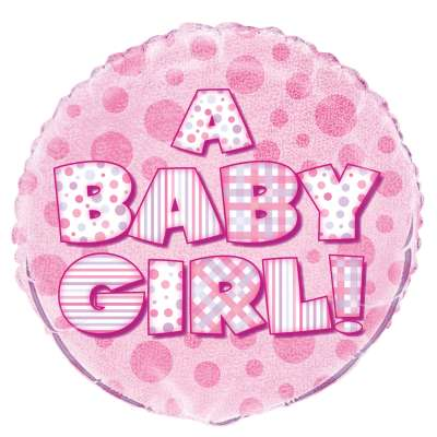 "Foil Balloon - 18"" - A Baby Girl!"