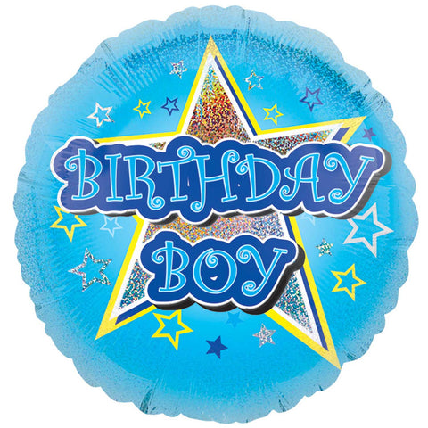 "Foil Balloon - 18"" - Birthday Boy"