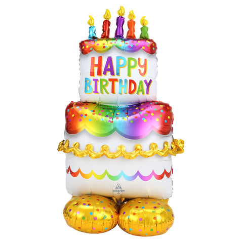 Foil Balloon - AirLoonz - Birthday Cake
