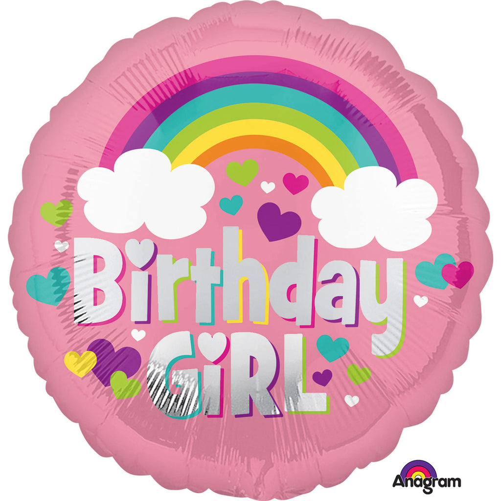 "Foil Balloon - 17"" - Birthday Girl"