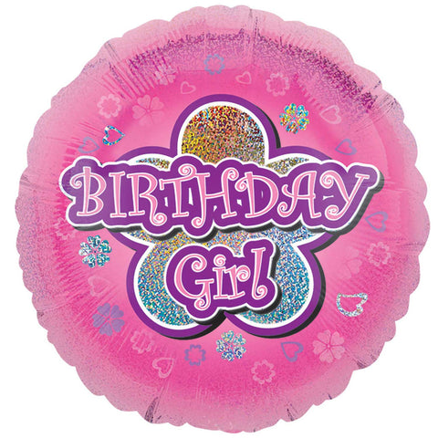 "Foil Balloon - 18"" - Birthday Girl"