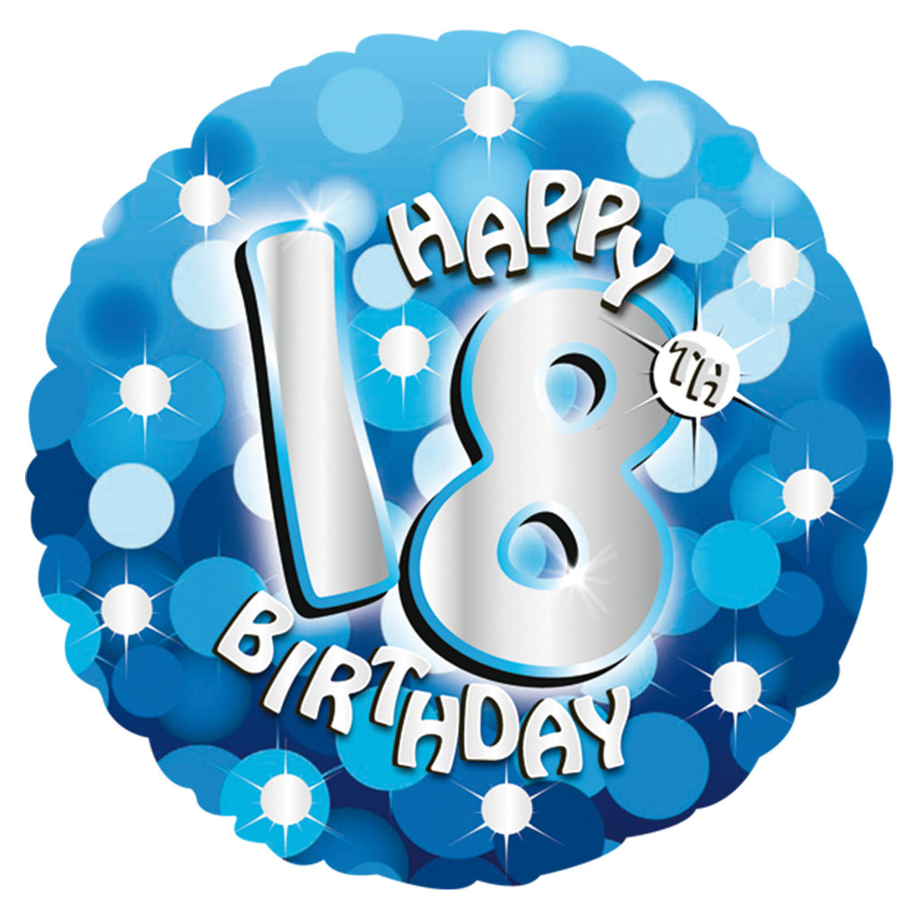"Foil Balloon - 18"" - Happy 18th Birthday - Blue"