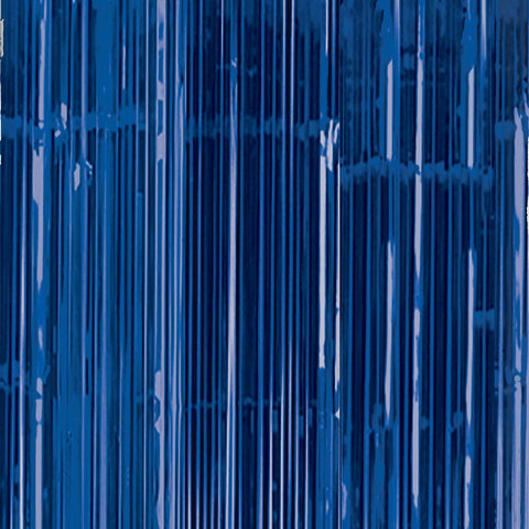 Door Curtain - Bright Blue Shimmer