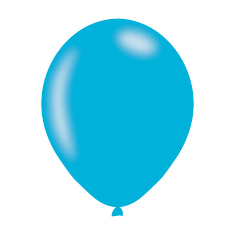 Latex Balloons - Pearlised - Caribbean Blue