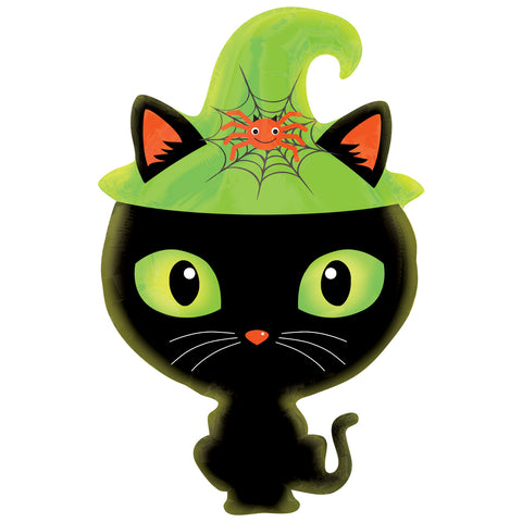 Foil Balloon - Junior Shape - Black Cat