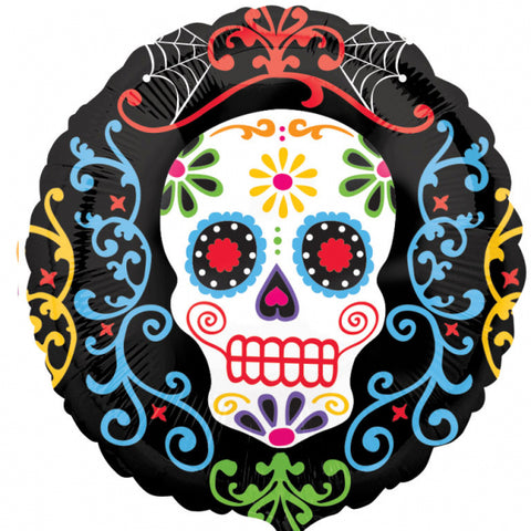 "Foil Balloon - 18"" - Day of the Dead"