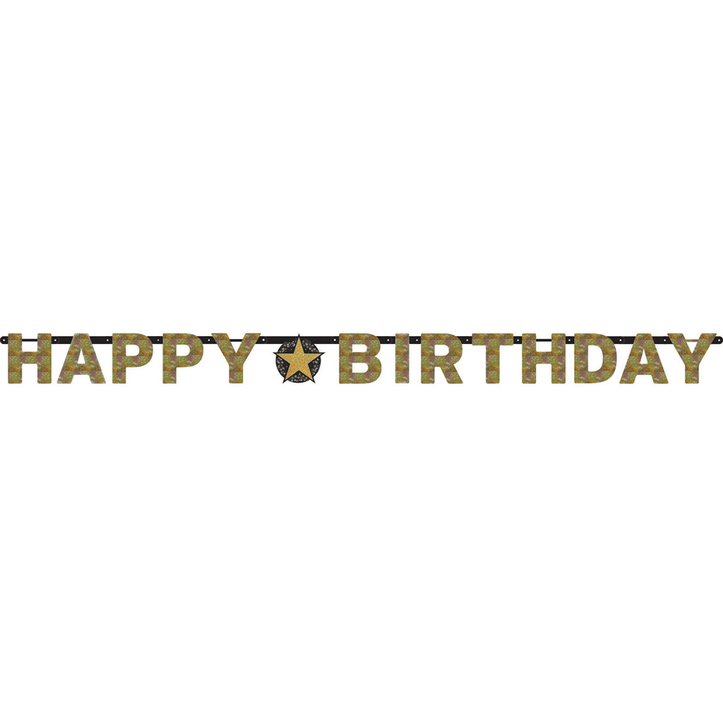 Banner - Birthday - Black/Gold