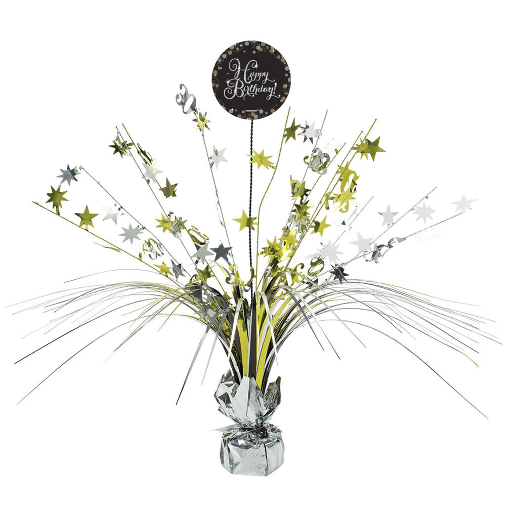 Centrepiece - Birthday - Gold/Silver/Black