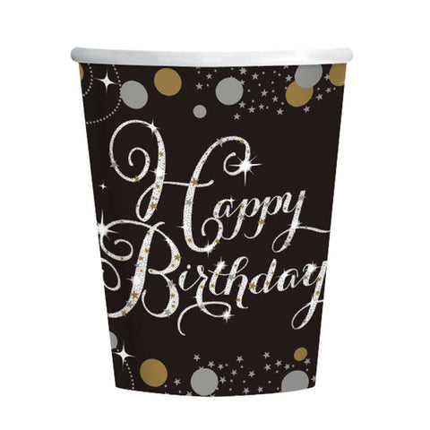 Cups - Birthday - Gold/Silver/Black