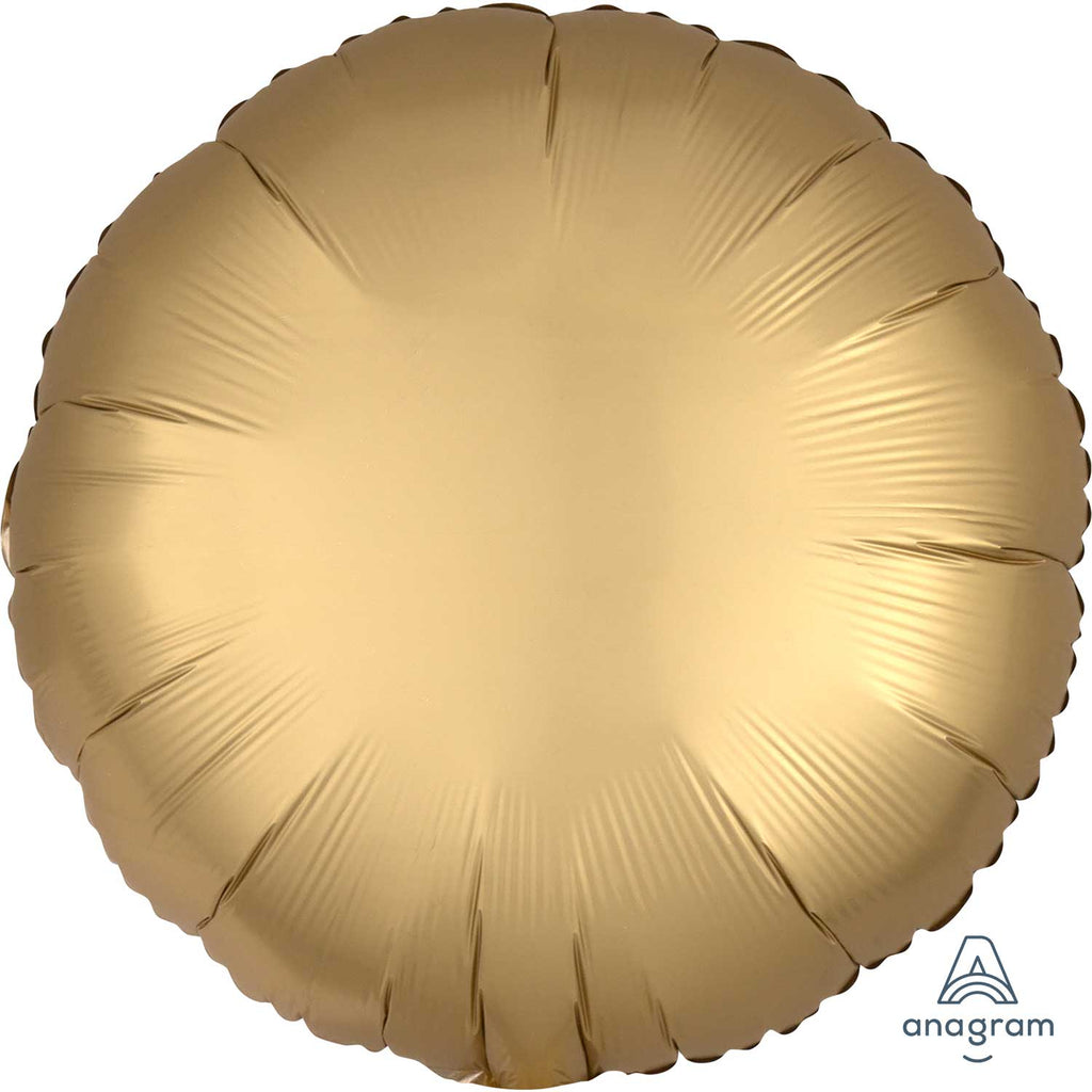 Foil Balloon - Solid Colour - Round - Satin Luxe - Gold