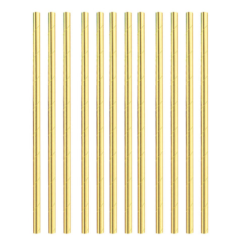 Straws - Paper - Gold